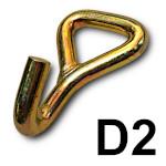 Zakończenie D2 - hak pojedynczy