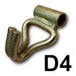 Zakończenie D4 - hak podwójny z tuleją