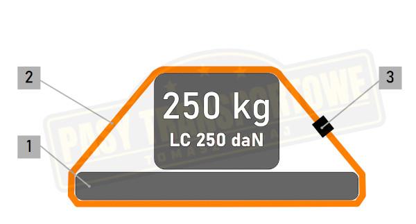 Pas Å›ciÄ…gajÄ…cy 250kg z klamrÄ…