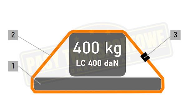 Pas Å›ciÄ…gajÄ…cy 400kg z klamrÄ…